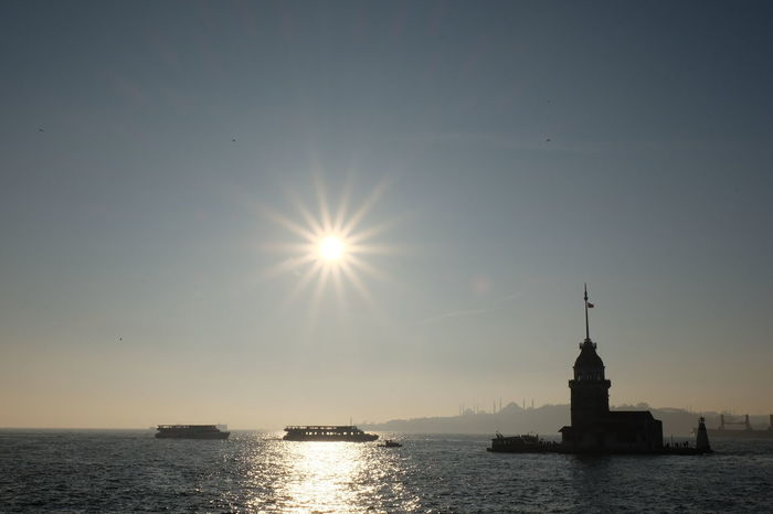 The Maiden's Tower Architecture Bosphorus, Istanbul City Day Istanbul City Istanbul Turkey Nature Nautical Vessel Outdoors Refraction Sea Sky Statue Sun The Maiden's Tower Travel Destinations Turkey Water Waterfront