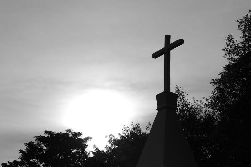 Christian cross , Christ, Christianity, life, religious, faith, holy, spiritual, Jesus. Catholic Christianity Chruch Faith God Halloween Heaven Jesus Pray Belief Believe Black And White Cemetery Christ Cross Grave Holy Place Of Worship Religion Religious Equipment Silhouette Sky Spirituality Symbol