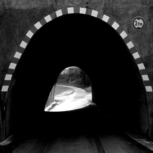 Rear view of silhouette tunnel