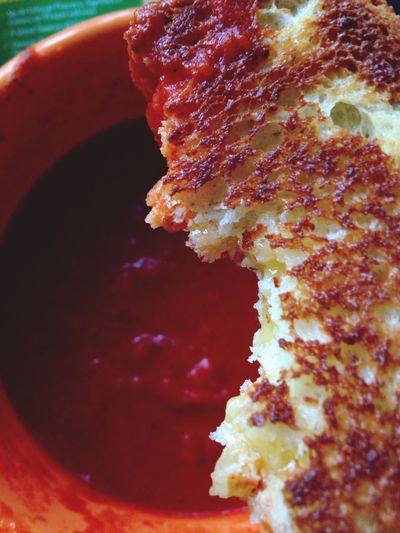 Grilled cheese and tomato soup. Food Grilled Cheese Soup