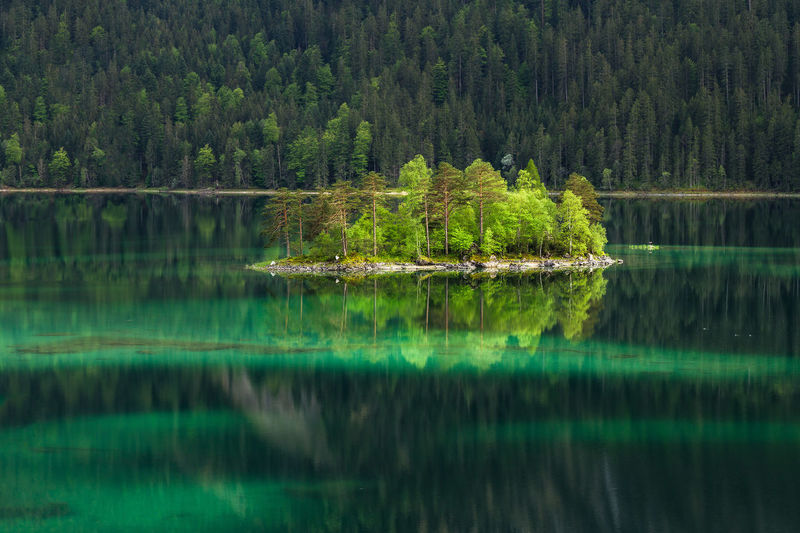 Landschaftsfotografie Deutschland Eibsee Lake Farbenspiel Spiegelung The Great Outdoors - 2016 EyeEm Awards