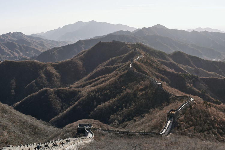 Great Wall Of China Mountain Mountain Range Scenics - Nature Tranquil Scene Tranquility Environment Landscape Beauty In Nature Sky Non-urban Scene Nature Day No People Clear Sky Idyllic High Angle View Outdoors Travel Travel Destinations Sunlight Mountain Peak My Best Photo