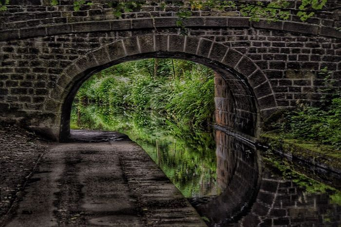Reflections In The Water Uppermill Canals And Waterways Saddleworth Landscape_Collection