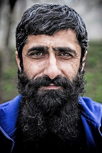Adult Adults Only Beard Close-up Day Front View Headshot Human Body Part Looking At Camera Mature Adult Men One Man Only One Person Only Men Outdoors People Portrait Real People Warm Clothing Young Adult