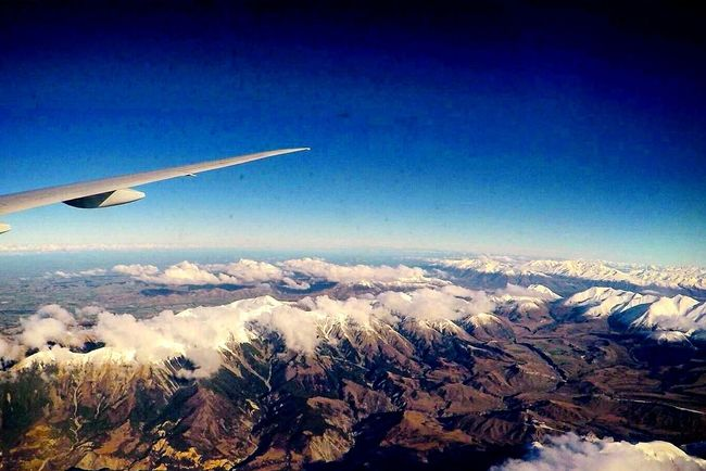 The Journey Is The Destination Flight Winter Mountain Blue Sky Travel Nature Scene Discovernewzealand