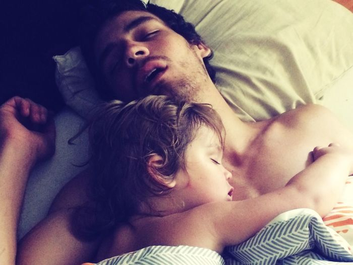 Real men snuggle fatherandsonmoments Snuggles naptime naps Fatherhood Moments Fatherandsonmoments Snuggles Naptime Naps Real People Two People Eyes Closed  Lying On Back High Angle View Directly Above This Is Masculinity