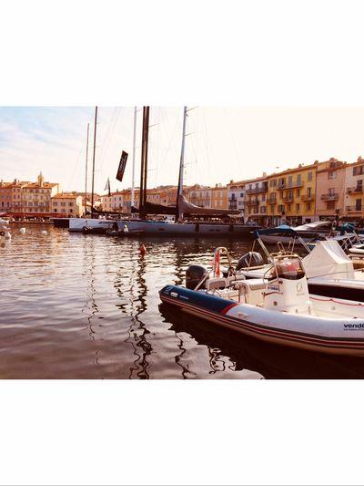 Saint Tropez Sailboat Harbor Clear Sky first eyeem photo