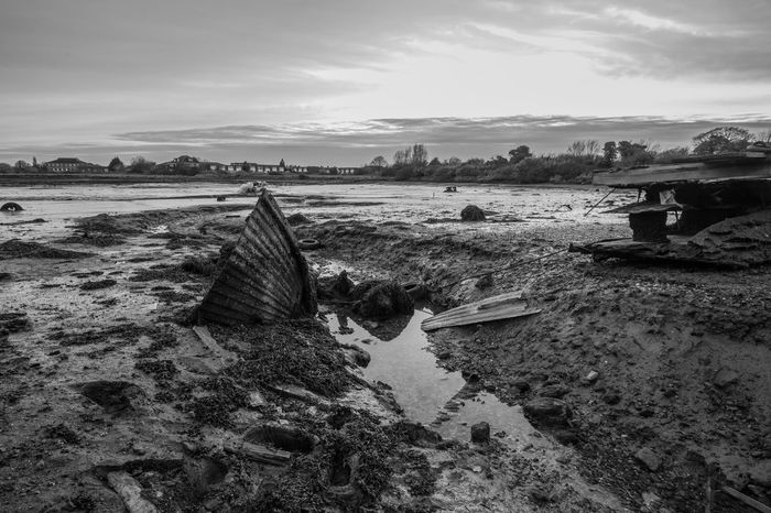 forton lake wreck Beautiful Boat Decaying Structure Decaying Wood Forton Lake Gosport Gosport Hampshire  Monochrome Ship Wreck