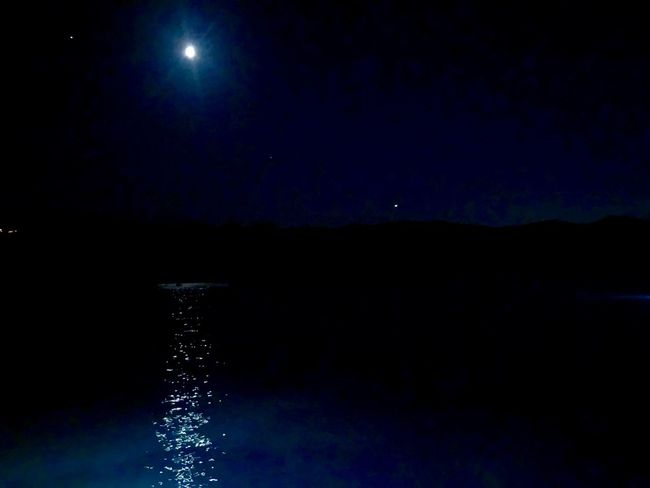 Night Sky Water Scenics - Nature Illuminated Astronomy Space Moon Moonlight Reflection