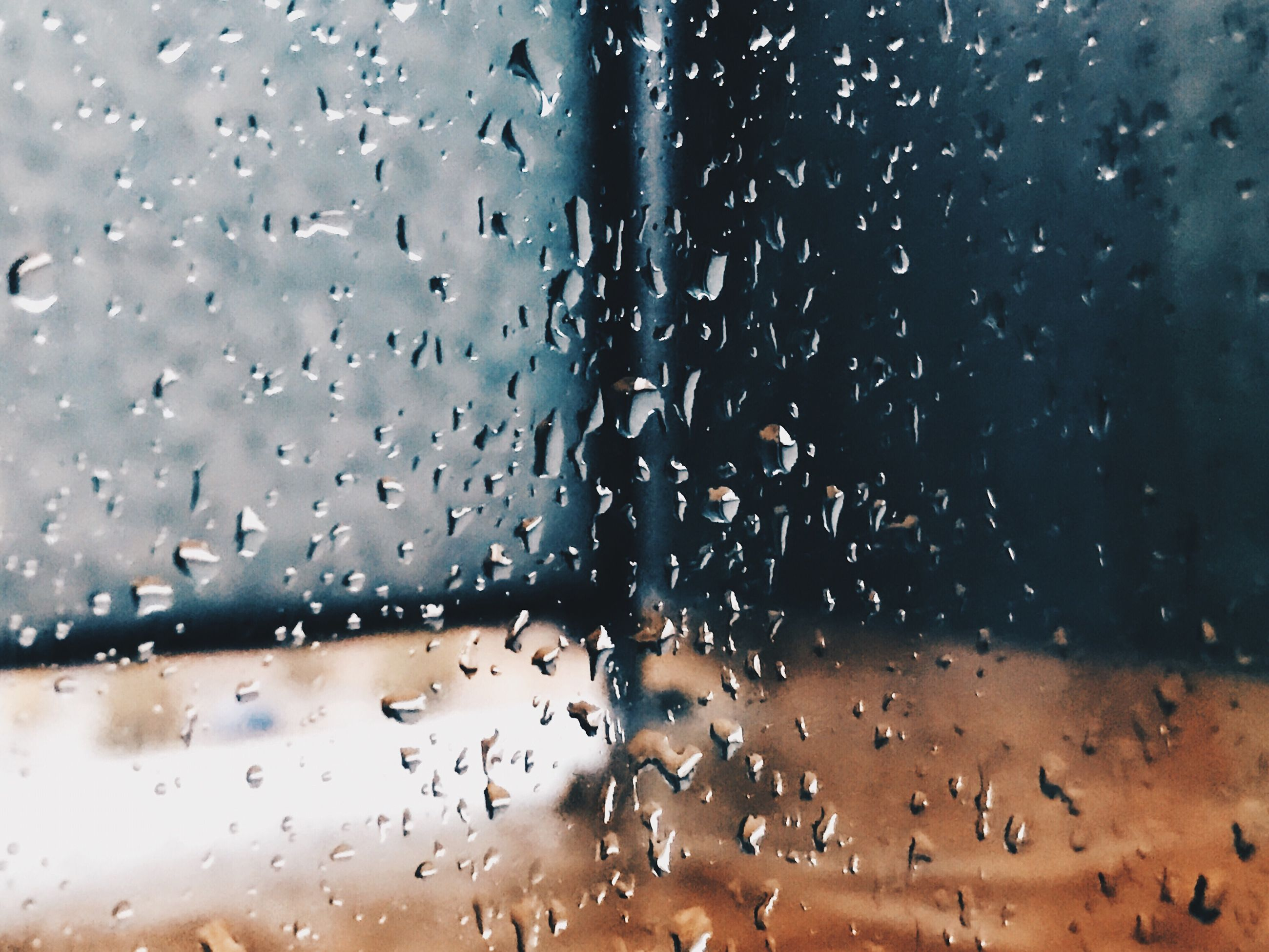 drop, glass - material, window, wet, water, indoors, weather, no people, raindrop, close-up, day, land vehicle, full frame, nature, sky