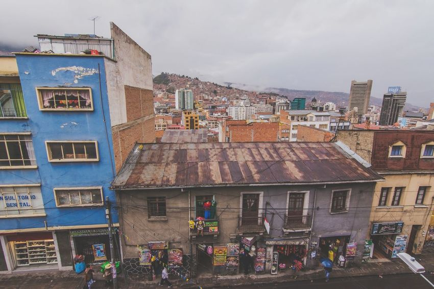 Architecture Building Exterior Built Structure Lifestyles Person Leisure Activity Sky Large Group Of People Men City City Life Entrance Cloud - Sky History Day Tourism In Front Of BOLIVIA ❤ La Paz, Bolivia La Paz Bolivia Bolivian City Life