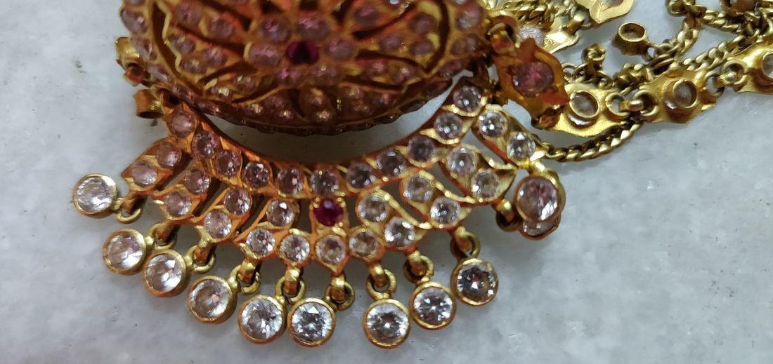 Luxury Antique Fashion Gold Precious Gem Necklace Jewelry Earring  Elégance Gemstone