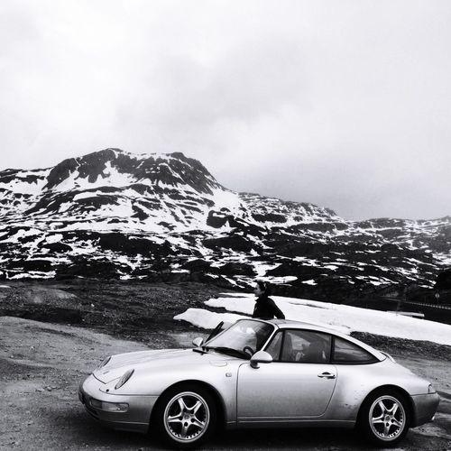 Simplon 911 Porsche 993 Motor Vehicle Car Mode Of Transportation Transportation Land Vehicle Sky Nature Road Cloud - Sky Mountain Snow Cold Temperature Snowcapped Mountain