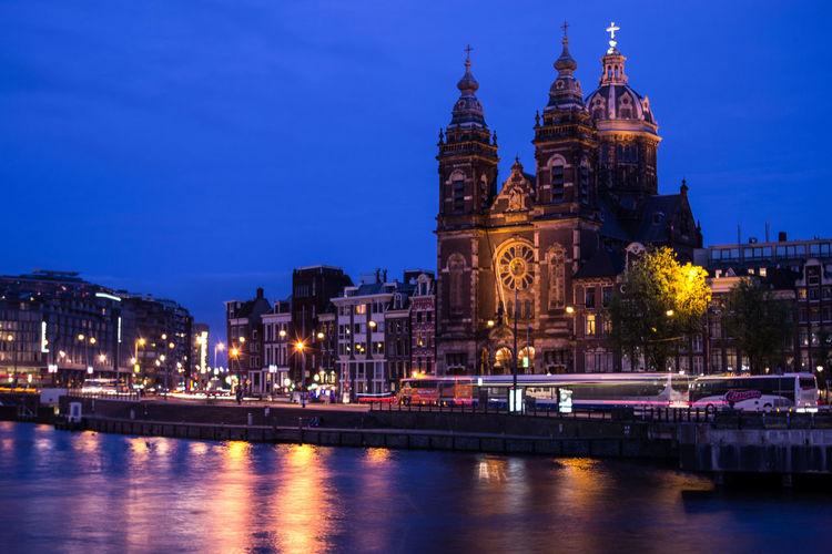 Amsterdam Church Goodnight Kerk Night Street Streetphotography Traffic