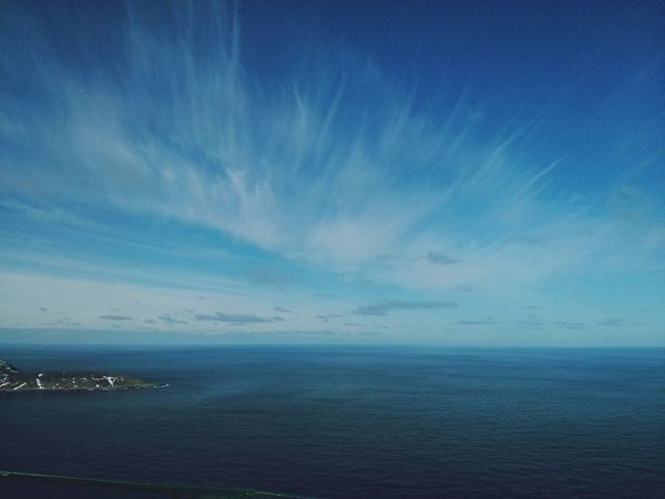 see the sea! Sea And Sky Northernmost part of Europe :D Nordkapp Cobalt Blue By Motorola