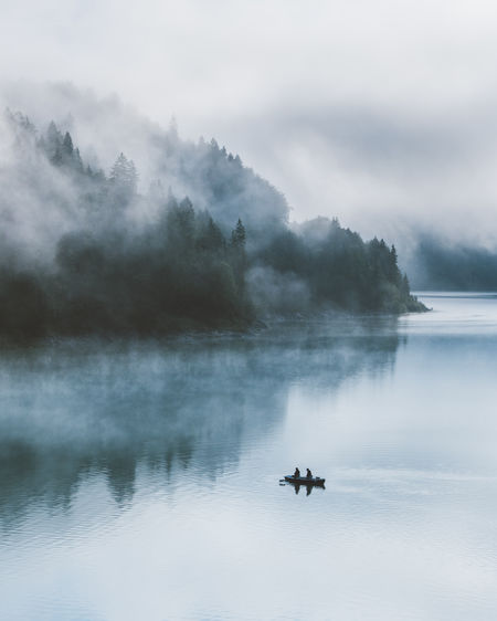 My Best Photo Water Scenics - Nature Beauty In Nature Mode Of Transportation Tranquil Scene Lake Transportation Tranquility Nature Waterfront Day Sky Cloud - Sky Outdoors No People Fishermen Fisherman Minimalism Mood Tranquility Fishermen Boat Fisherman Boat Calm Storm