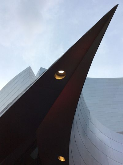 Frank Gehery building Los Angeles Disney Concert Hall Architecture Built Structure Building Exterior Low Angle View No People Outdoors Day Grey Sky Modern A Thing Of Beauty EyeEm Best Shots IPad Mini I Pad Mini I Pad Photography Feb 2017 USA