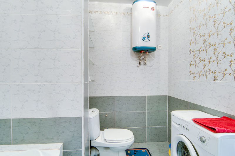 Bathroom Domestic Bathroom Tile Domestic Room Indoors  Wall - Building Feature Hygiene Home Flooring No People Sink Household Equipment Faucet Toilet Absence Convenience Architecture Bathroom Sink Built Structure Representation Tiled Floor Clean