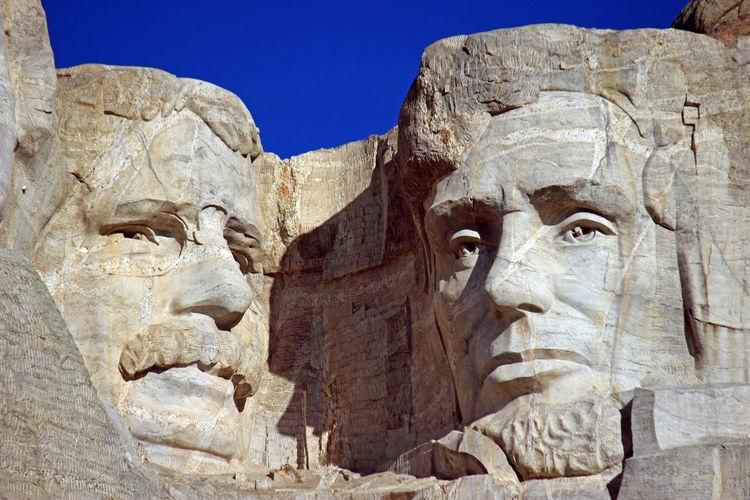 Mt. Rushmore Clear Sky Monument Mt. Rushmore National Landmark Presidents Pretty South Korea Stone Carving