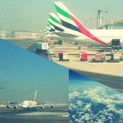 Dubaiairport Emiratesairline Airbus A380 The View From My Window