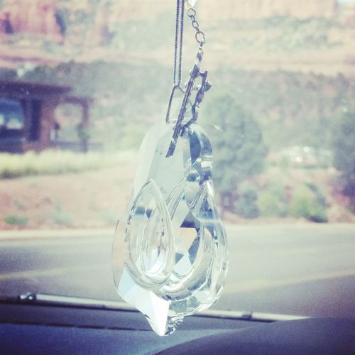 Rosary Glass Art Cello Driving Decal