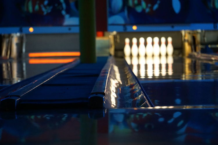 Close-up Empty Focus On Foreground Illuminated Selective Focus Still Life Bowl Bowling Fun Leisure Activity Family Family Time Lane Standing Night Nightlife San Antonio