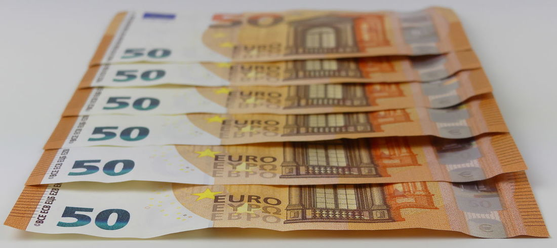 Euro banknotes Banknotes Close-up Currency Day Euros Finance Geldscheine Indoors  Large Group Of Objects Money No People Paper Currency Savings Wealth