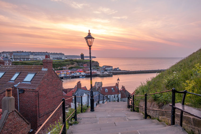 Whitby Whitby Harbour Whitby View Whitby North Yorkshire North Yorkshire North Yorkshire Coast Seaside Seaside Town Coastal 199 Steps Whitby 199 Steps No People Footpath Outdoors Horizon Over Water Building Exterior Cloud - Sky Water Sunset Sea Architecture Sky Horizon The Way Forward Travel Destinations