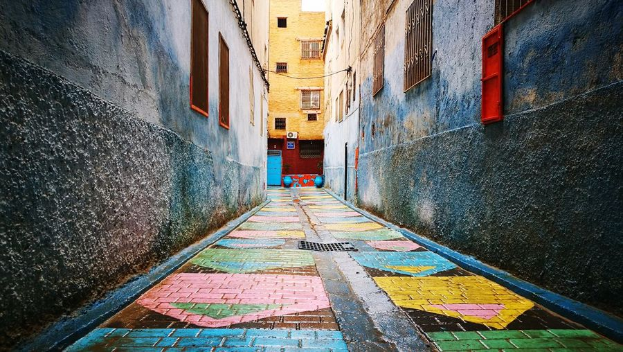 Fes Morocco Morocco Fez Morocco Residential Structure Street Art Spray Paint Exterior