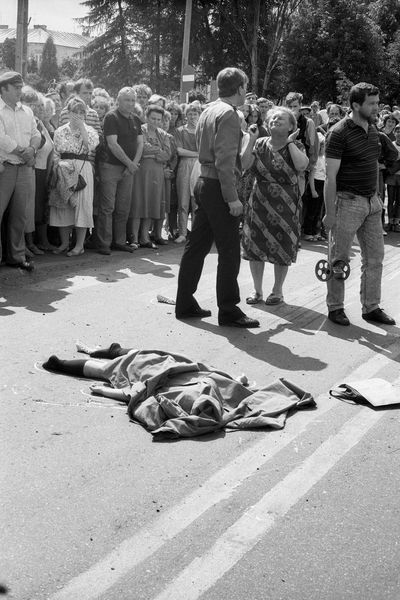 Accident Cadaver Corpse Death Death Body Despair Desperation Girl Large Group Of People Policeman Policeman At Work Real People Road Victim The Street Photographer - 2017 EyeEm Awards The Photojournalist - 2017 EyeEm Awards EyeEmNewHere