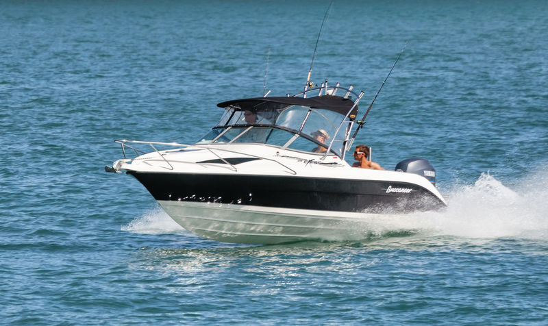 Racing boat in Bay of Islands, New Zealand Boating Couple Fun Racing Boat Vacations Water Sport Aquatic Sport Boat Close-up Cruising Motion Motorboat Motoryacht Nautical Vessel New Zealand People Powerboat Sea Side View Single Object Speed Speedboat Splashing Water Yacht