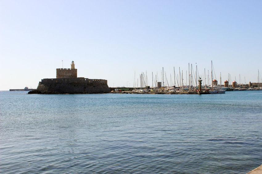 Sea Blue Travel Destinations Clear Sky Sky Architecture City Sailboat Water Greece Photos Greece Rhodes Rhodes Greece