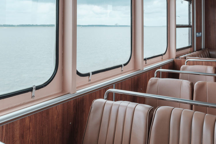 Empty seats in nautical vessel