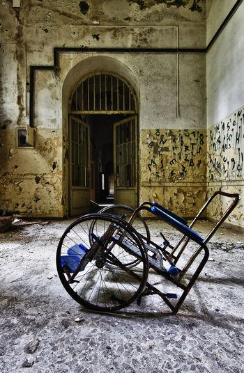 Bicycle against building