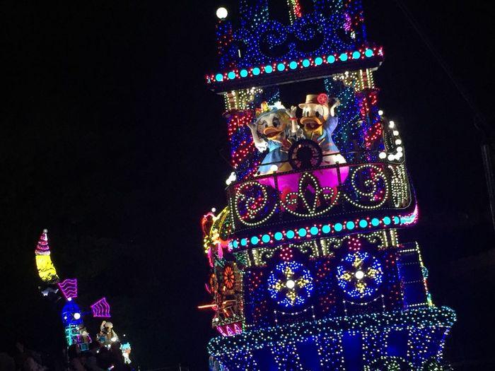 Disney Disneyland Donald Duck Daisyduck Parade Happy Happyday Vacation with natsu