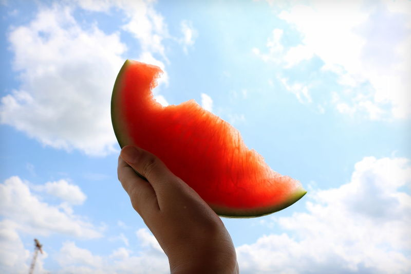 ☀ Cloud - Sky Low Angle View Water Melon Summer ☀ Summer Feeling Done That.