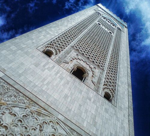 Arch Architectural Feature Architecture Building Exterior Built Structure Casablanca City Cloud - Sky Day Façade Famous Place Landscape Low Angle View Memories Monument Morocco Mosquee Hassan II No People Outdoors Place Of Worship Sky Skyscraper Spire  Tall - High