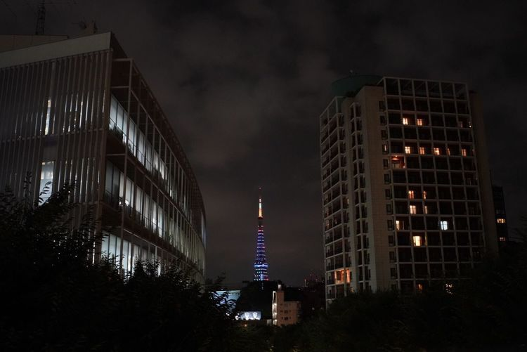 Architecture Building Exterior Night Built Structure Illuminated Modern Low Angle View Sky Travel Destinations City No People Outdoors Japanese  Tokyo,Japan Japan Photography Tokyo Tower Tokyo Night Nokton NoktonClassic Nokton 35mm F1.2