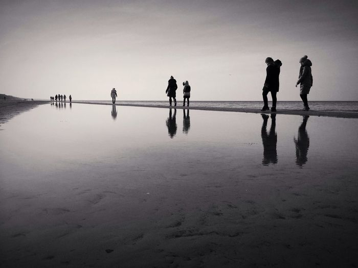 to infinity and beyond Silhouette Reflection Bwbeach IPSMinimalism