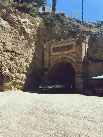 Only way in and out... Realdecatorce Mexico EyeEm OnlyWay Tunnel Arch Architecture Built Structure Day History Travel Destinations Outdoors Nature