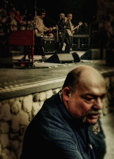 """""""Hey, don't look at them... look at me!"""" Front Row Fun Concert Security Silliness Move! 2016 Person Mature Adult Bald Bouncer Leisure Activity Lifestyles Headshot Music Live Music Santa Barbara County Bowl Santa Barbara"""