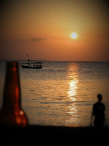 Beauty In Nature Horizon Over Water Nature Outdoors Sea Sky Sun Sunset Tranquil Scene Tranquility Water Zanzibar_Tanzania