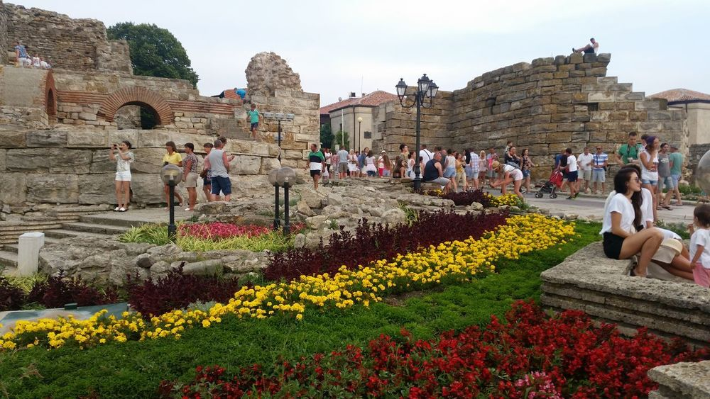 Lovely Place in Nesebar Bulgaria UNESCO World Heritage Site Ruins Garden Photography Flowers Beauty In Nature Outdoors Relaxing Time Hello World Check This Out From My Point Of View Travel Photography Vacations EyeEm Gallery Ilovephotography Relax Time  EyeEm Best Shots EyeEmBestPics Travel Destinations Flower Vacation Time Hanging Out Eye4photography