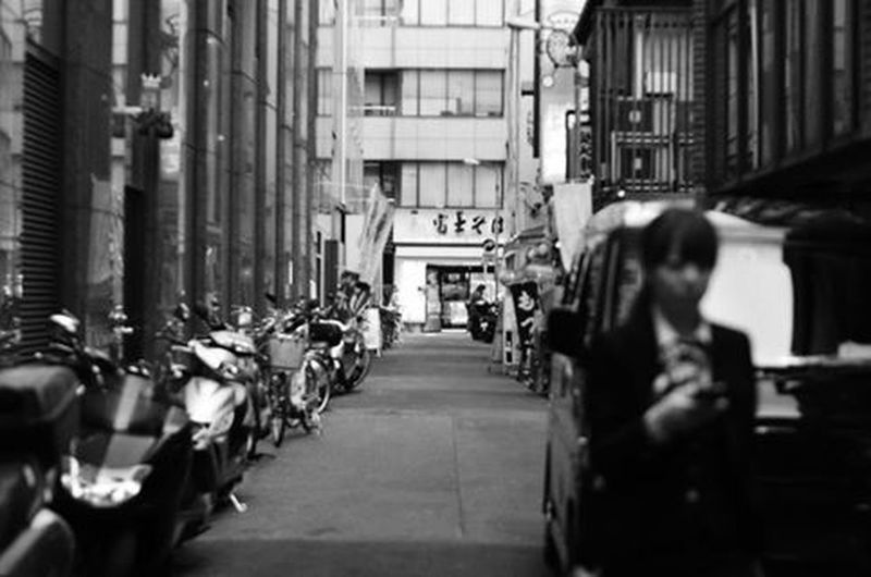 The Path Less Traveled By Pointer Footwear The other side of Japan Monochrome Streetphotography