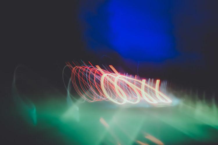 Light trails in sea