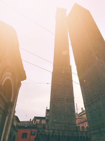 The Two Towers of Bologna Amazing architecture Italy Medieval Tower Europe Due Torri Bologna Nature No People City Building Travel Destinations Tower Sunset Outdoors History Religion Day Tall - High Travel The Past