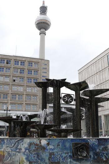 Alexanderplatz, Alex, Fernsehturm, Brunnen der Völkerfreundschaft Architecture Building Exterior Built Structure City Communication Day No People Outdoors Sky Tower Travel Destinations
