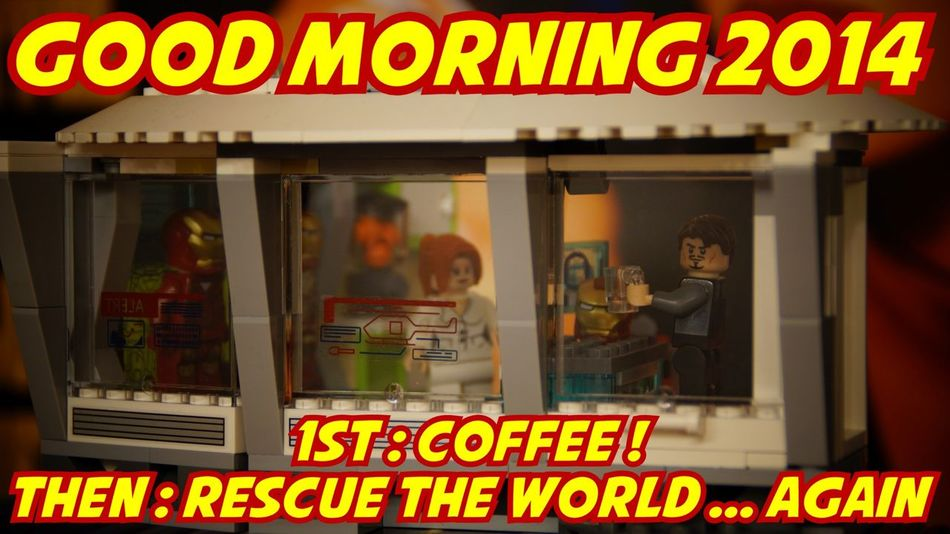 Happynewyear2014 LEGO Superheroes Coffee