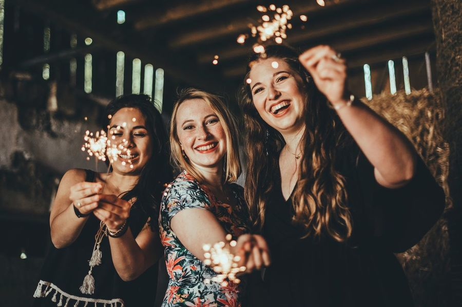 smiling is a beautiful accessoir! Sparkle Joy Fun Friendship Nightlife Enjoyment Party - Social Event Celebration Selfie Smiling Lifestyles Cheerful Happiness Togetherness Photographing