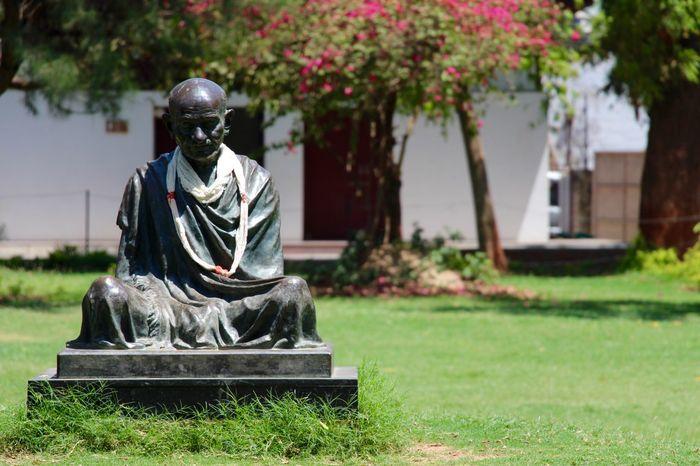 Ahmedabad India Day Nature No People Outdoors Sculpture Statue Tree EyeEmNewHere Gandhiji Gandhi Ashram